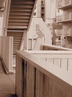 ベランダの階段