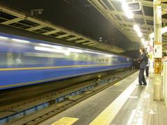 横浜駅を出発した寝台特急出雲号