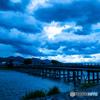 暗雲の渡月橋