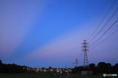 夕刻の光芒