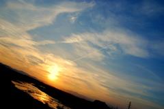 一筋の白雲