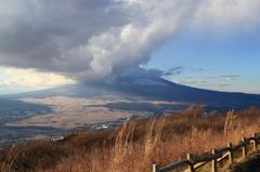 雲隠れ富士山