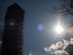 シンボルと太陽(完全逆光TEST)