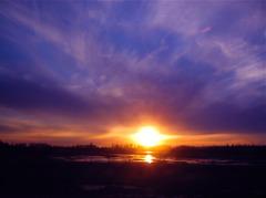 A.K sunset@Alaska