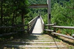 精進ガ滝の吊り橋