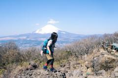 山ガールと富士
