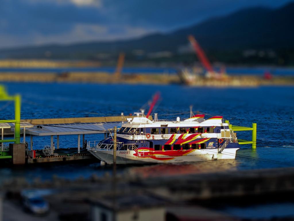ジオラマ風屋久島高速船ロケット