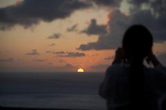 屋久島の夕暮れ
