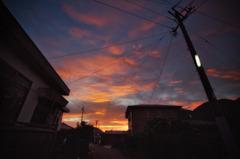 屋久島の朝焼け