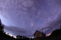 雲の上の朝焼け