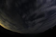 18日の東の夜空