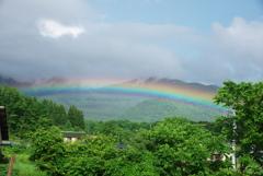また家の前に虹が!!!