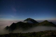 ニペソツ山を望む