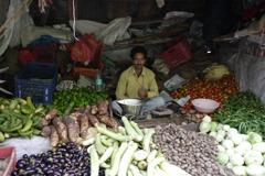 インド・野菜・おじさん