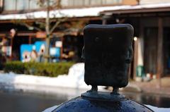 水木しげるロードで一番のお気に入りブロンズ像「ぬりかべ」