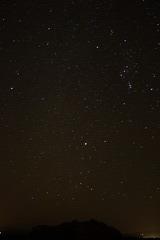 a starlit sky