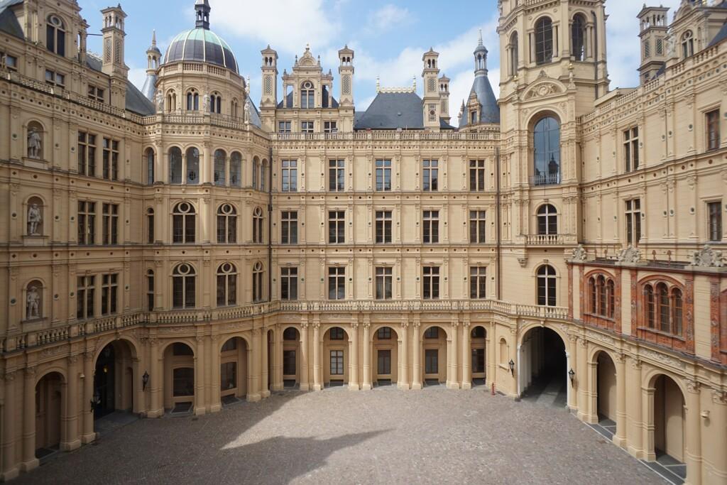 ドイツのお城 中庭