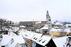 2月のチェスキークルムロフの街