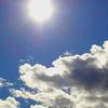 太陽と雲と青空と