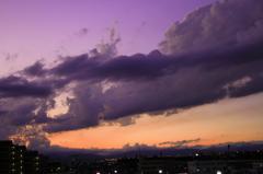 Clouds divide a color