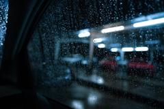 Cold rain falls