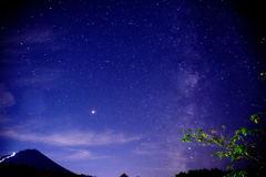 富士 星景