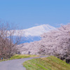 春景と鳥海山
