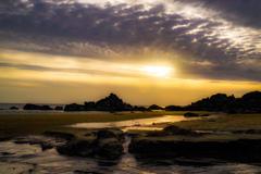 夕日と霞  その1