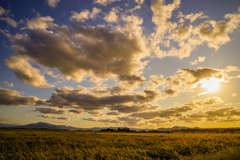 黄昏の平野