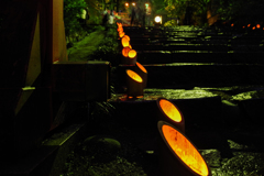 霊廟へ誘う灯り