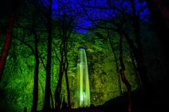 玉簾の滝 ライトアップ その3