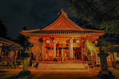 荘内神社ライトアップ