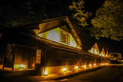 山居倉庫の夜