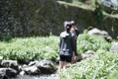 夏休み~川のほとり