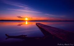 最果ての秋 クッチャロ湖 ~夕景~ <薄紫色の情景を残し静かに夜を迎える。>
