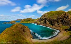 最果ての秋 礼文 澄海岬 ~エメラルドの入り江が見渡せる場所。~
