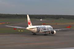 サッカー日本代表メンバーデザインの飛行機