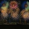 福岡タワーと花火