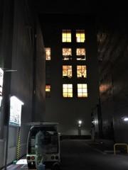 ビルの裏側