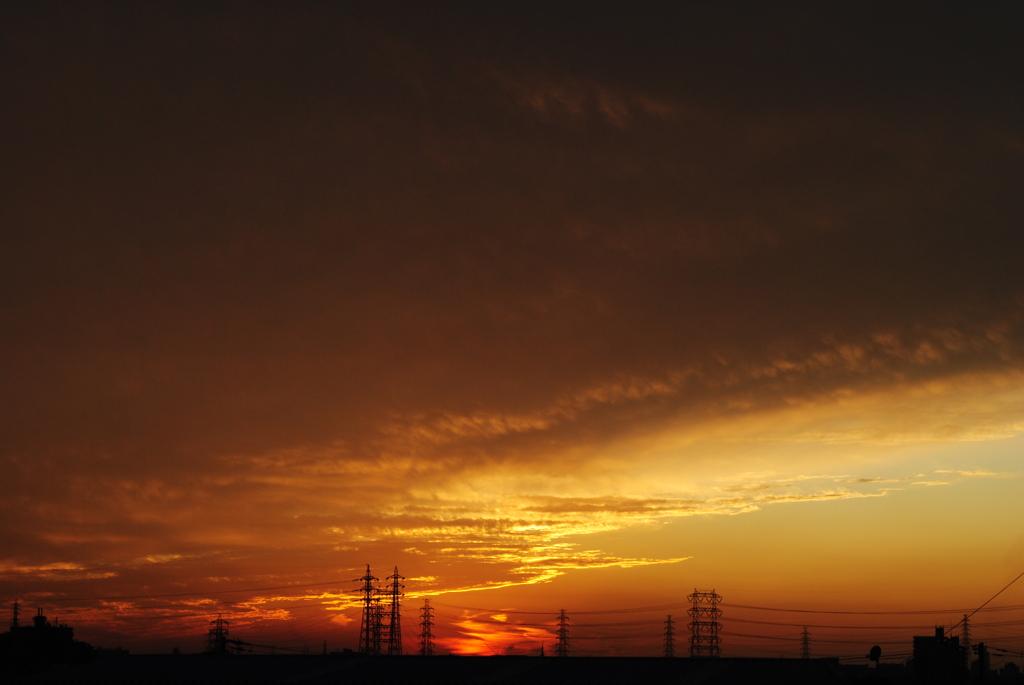 今日の空  ~残照~