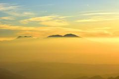 美ヶ原高原の夜明け