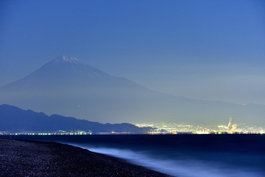 夜の三保海岸
