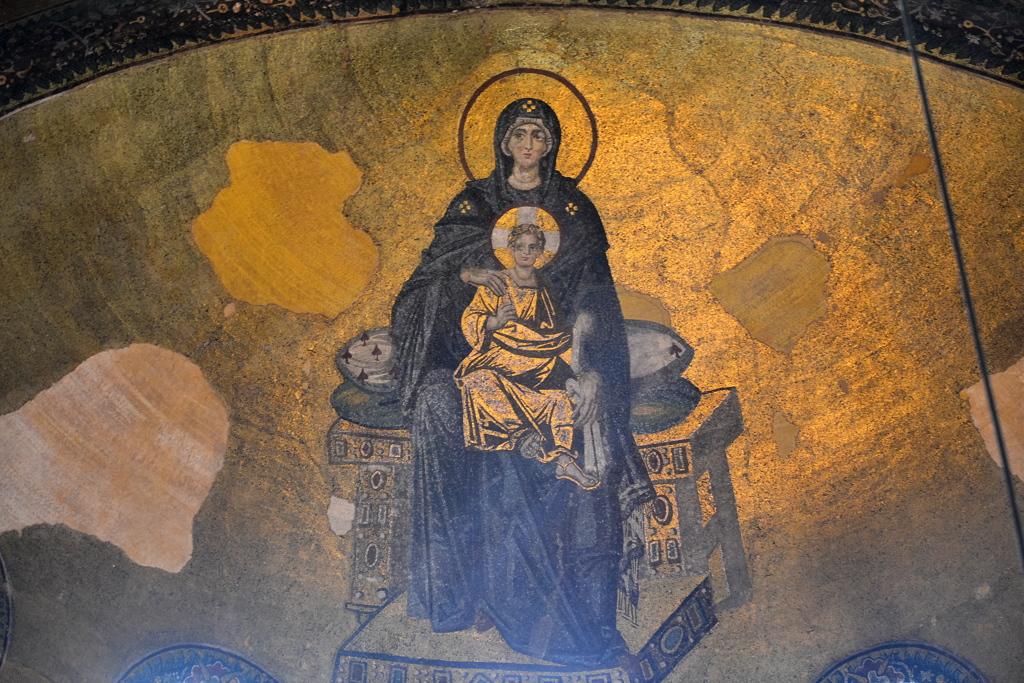 Ayasofya 09 塗りこめられた聖母子