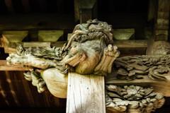 鎌倉漫ろ歩き 13 法華堂 木鼻彫刻