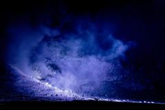 硫黄山のイルミネーション