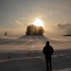 黄昏の雪原