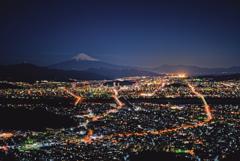 満月富士at朝鮮岩