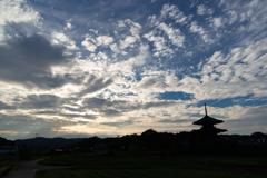 空と法起寺