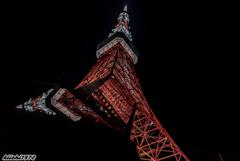 2本に分かれてる東京タワー