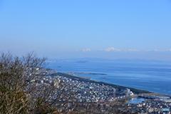 相模湾 江ノ島と三浦半島
